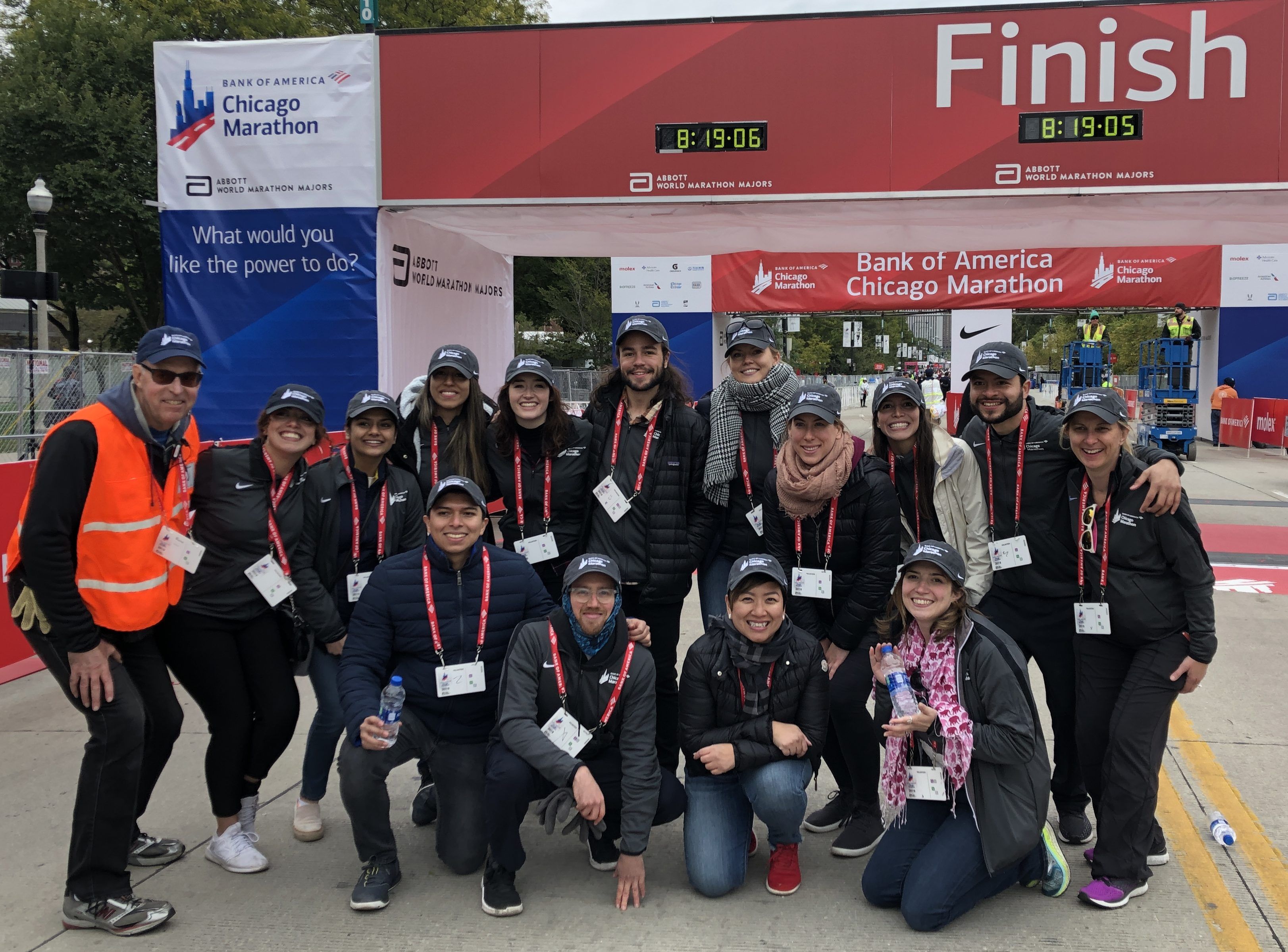 Perks of Volunteering Local! Greenheart Staff at The Chicago Marathon