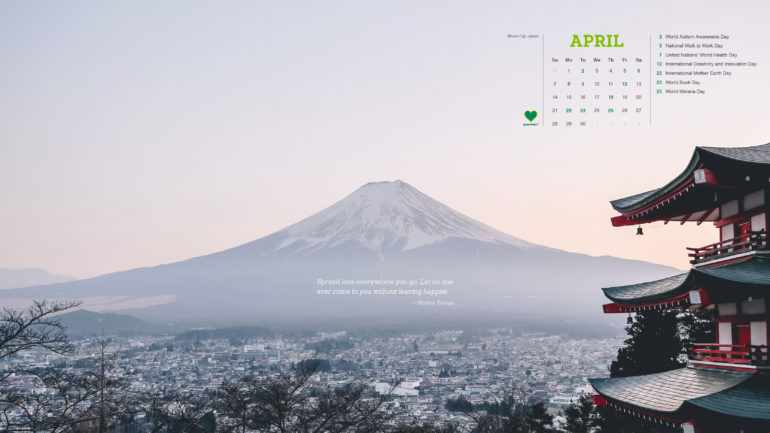 Greenheart Calendar – April 2019