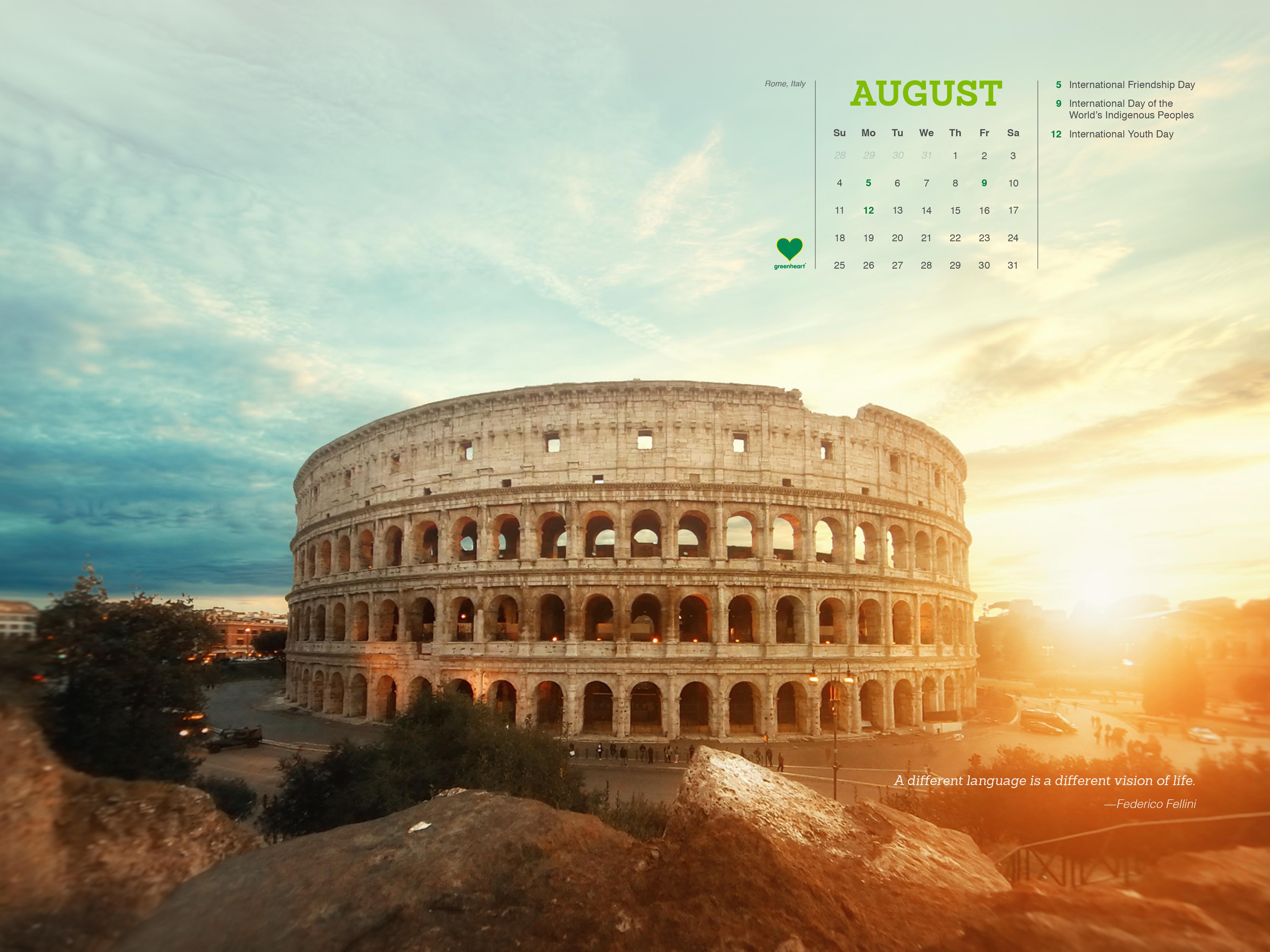 Hello, August!