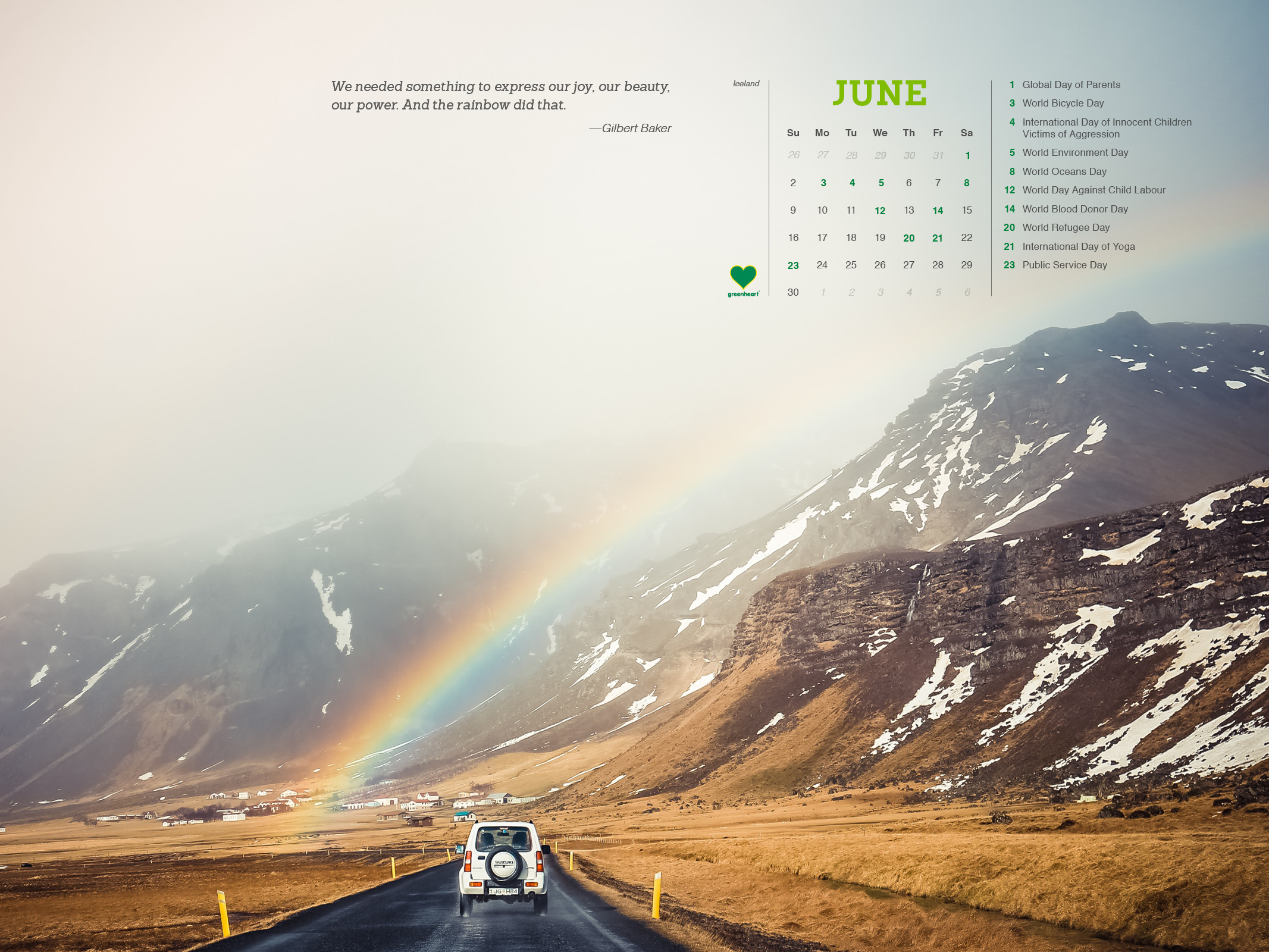 Save the Date! June 2019 Global Calendar