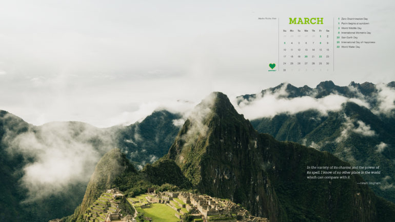 Greenheart Calendar – March 2019